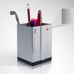Elegantný hranatý hliníkový stojan na perá