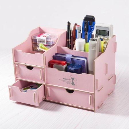 DIY multifunkčný drevený stojan ružový
