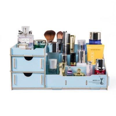 Drevený DIY stojan na kozmetiku, písacie potreby, hračky