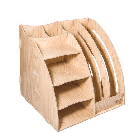 DIY drevený stojan na perá a dokumenty