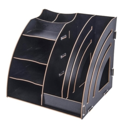 Kombinovaný DIY stojan 7 priehradkami čierny