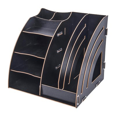 Čierny DIY stojan na písacie potreby, perá a dokumenty