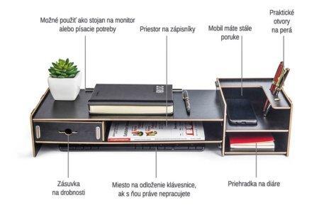DIY Stojan pod pc monitor čierny vlastnosti