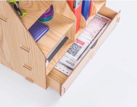 DIY Stojan na dokumenty a písacie potreby