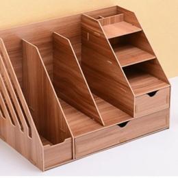 Prémiový kombinovaný DIY stojan so 8 priečinkami a 2 zásuvkami tmavé drevo