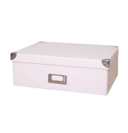 Štýlový skladací papierový úložný box biely, viac veľkostí