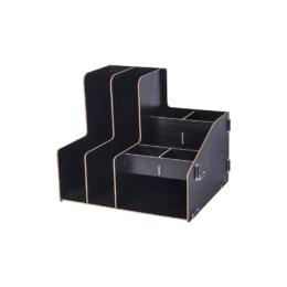 Kombinovaný DIY stojan s 8 priehradkami čierny
