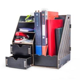 Multifunkčný DIY stojan s 2 zásuvkami čierny