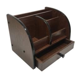 6022 stojan na písacie potreby so zásuvkou tmavé drevo